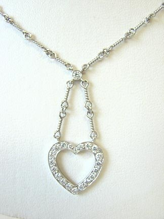 Tiffany platinum and diamond heart necklace collectorsnet home jewelry necklaces tiffany platinum and diamond heart necklace aloadofball Choice Image