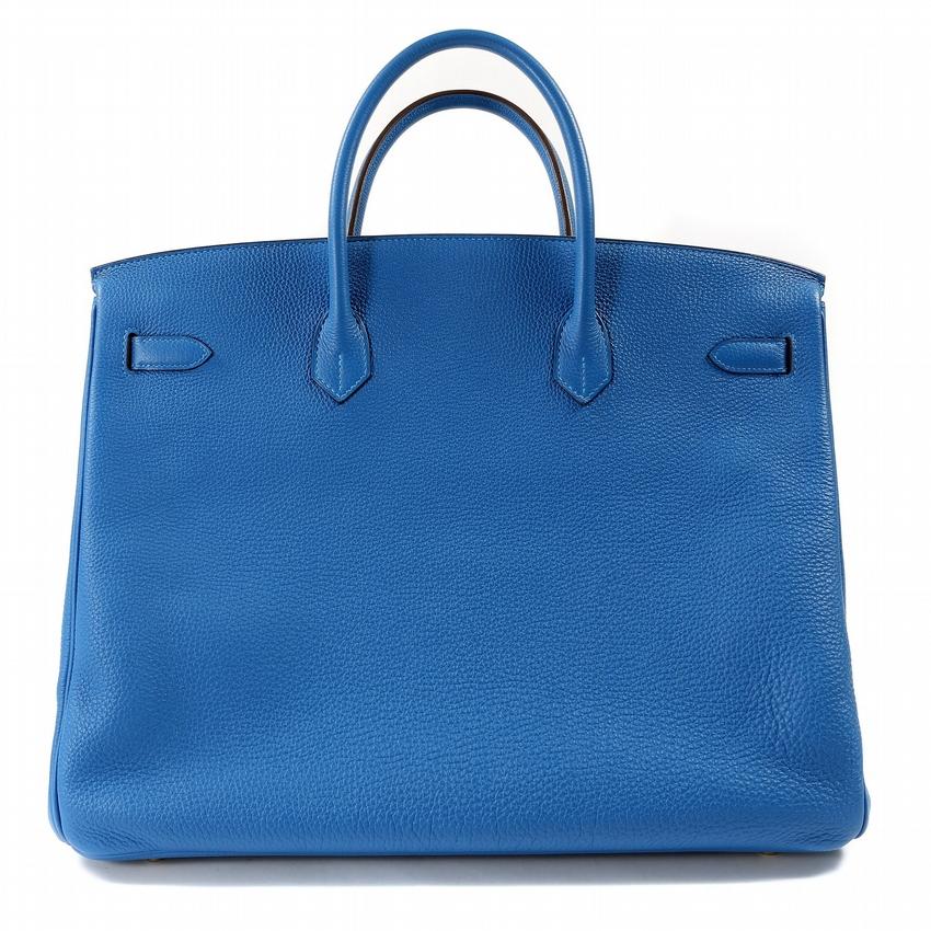 1ca79cb7e3d Home   Antiques   Vintage Bags   Authentic Hermes Mykonos Blue Togo 40 Cm  Birkin
