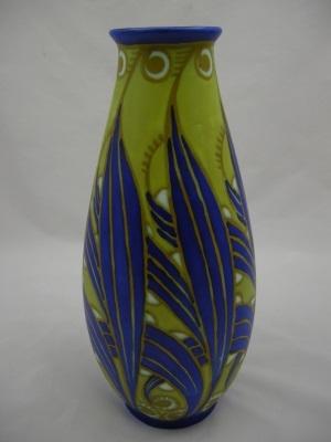 Boch Freres Gres Keramis Vase Circa 1927