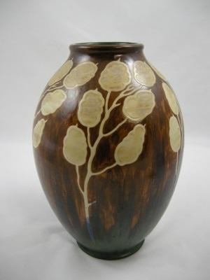 Boch Freres Gres Keramis Vase Circa 1920