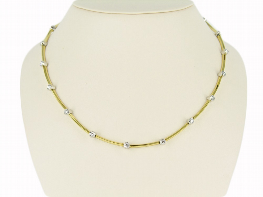 18kt/Platinum Tiffany & Co Diamond Necklace