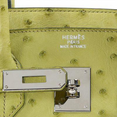 Authentic Hermès Kiwi Ostrich 35 Cm Birkin