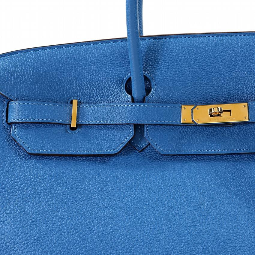 349e464ee27 Authentic Hermes Mykonos Blue Togo 40 Cm Birkin. zoom3 10801. zoom4 10801.  Home   Antiques   Vintage Bags ...