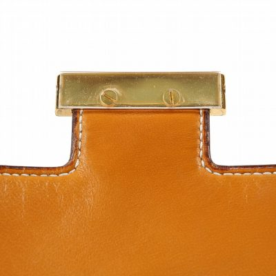 Authentic Hermès Beige Toile and Leather Constance Bag