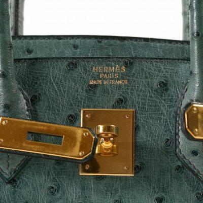 Authentic Hermès Bleu Roi Ostrich 30 Cm Birkin