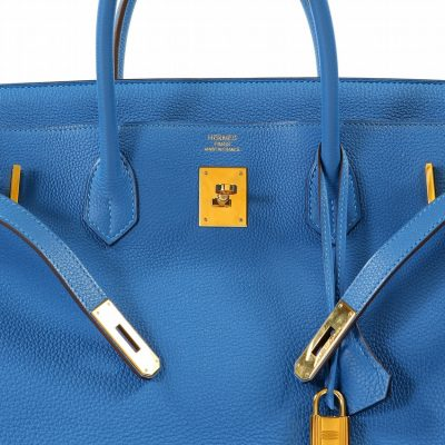 38106b78cc8 Authentic Hermès 40 Cm Mykonos Blue Togo Birkin