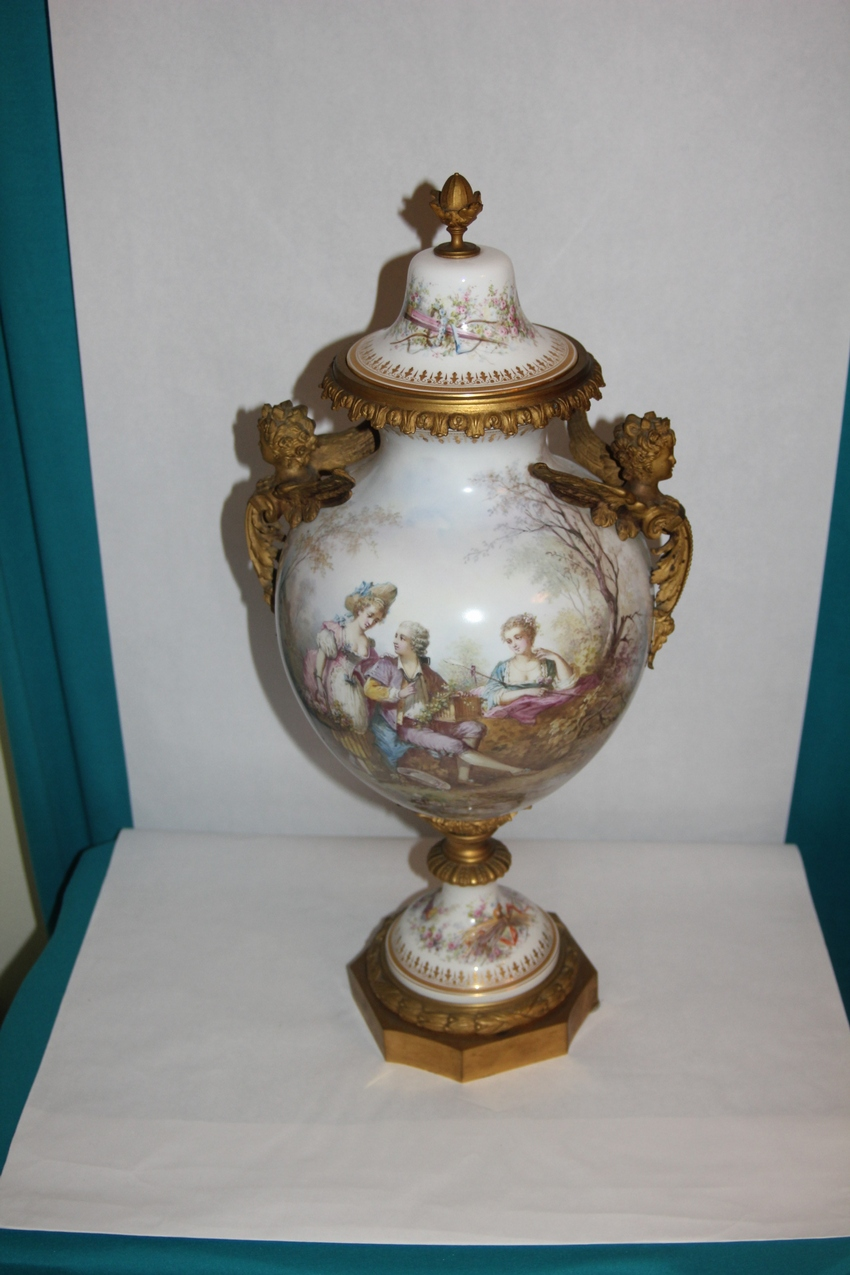 A late 19th century Sevres Vase