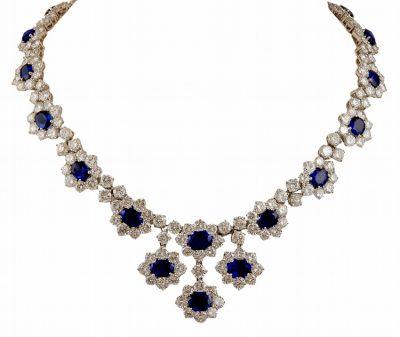HARRY WINSTON Sapphire & Diamond Necklace