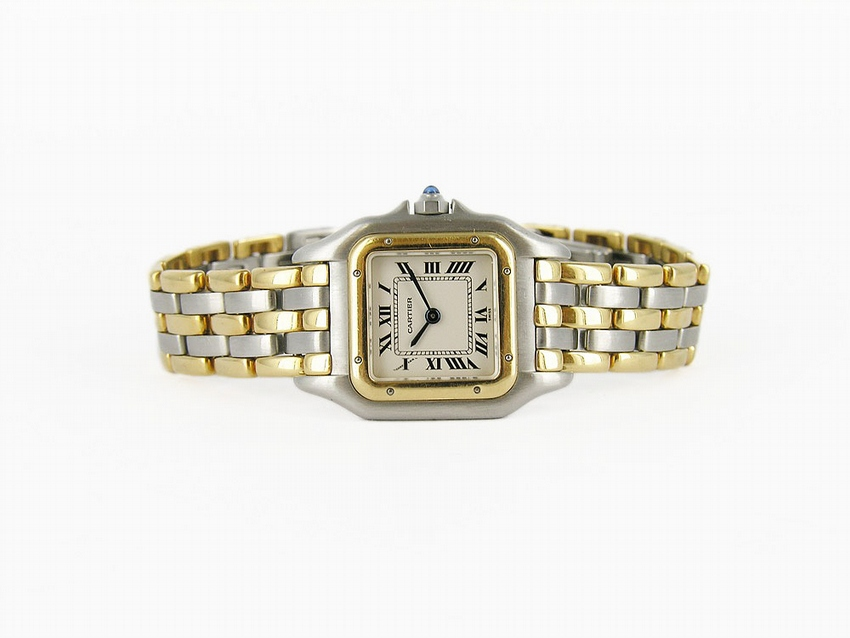 18kt Yellow Gold & Stainless Steel Cartier Panther Watch