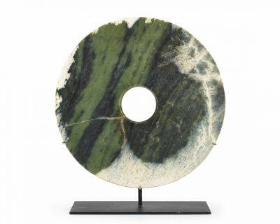 A large calcified jade bi-disc