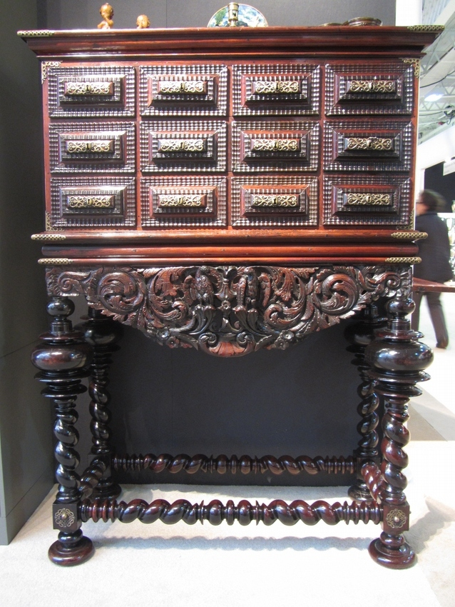 17th century Portugese Cabinet on stand (Contador)