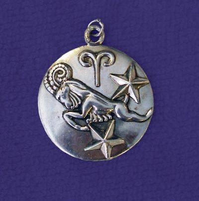 Margot de Taxco Aries Zodiac Sterling Silver Pendant/Charm