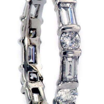 Estate Baguette & Round Diamond Eternity Ring