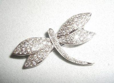 Diamond Dragonfly Pin