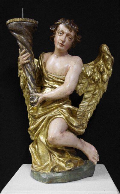 Pair of Italian Baroque Angels (Angeli Reggicandelabri)
