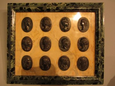 Grand Tour Plaque with Roman Empors