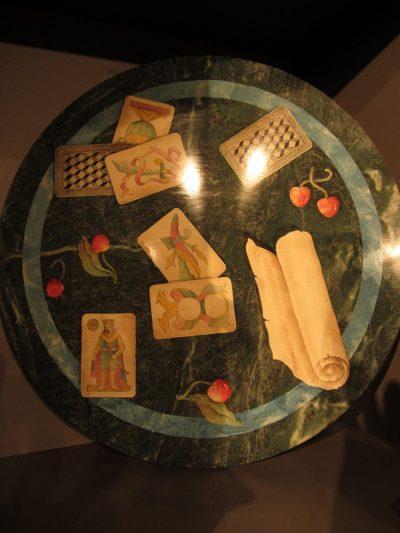 Scagliola trompe l'oeil tabletop