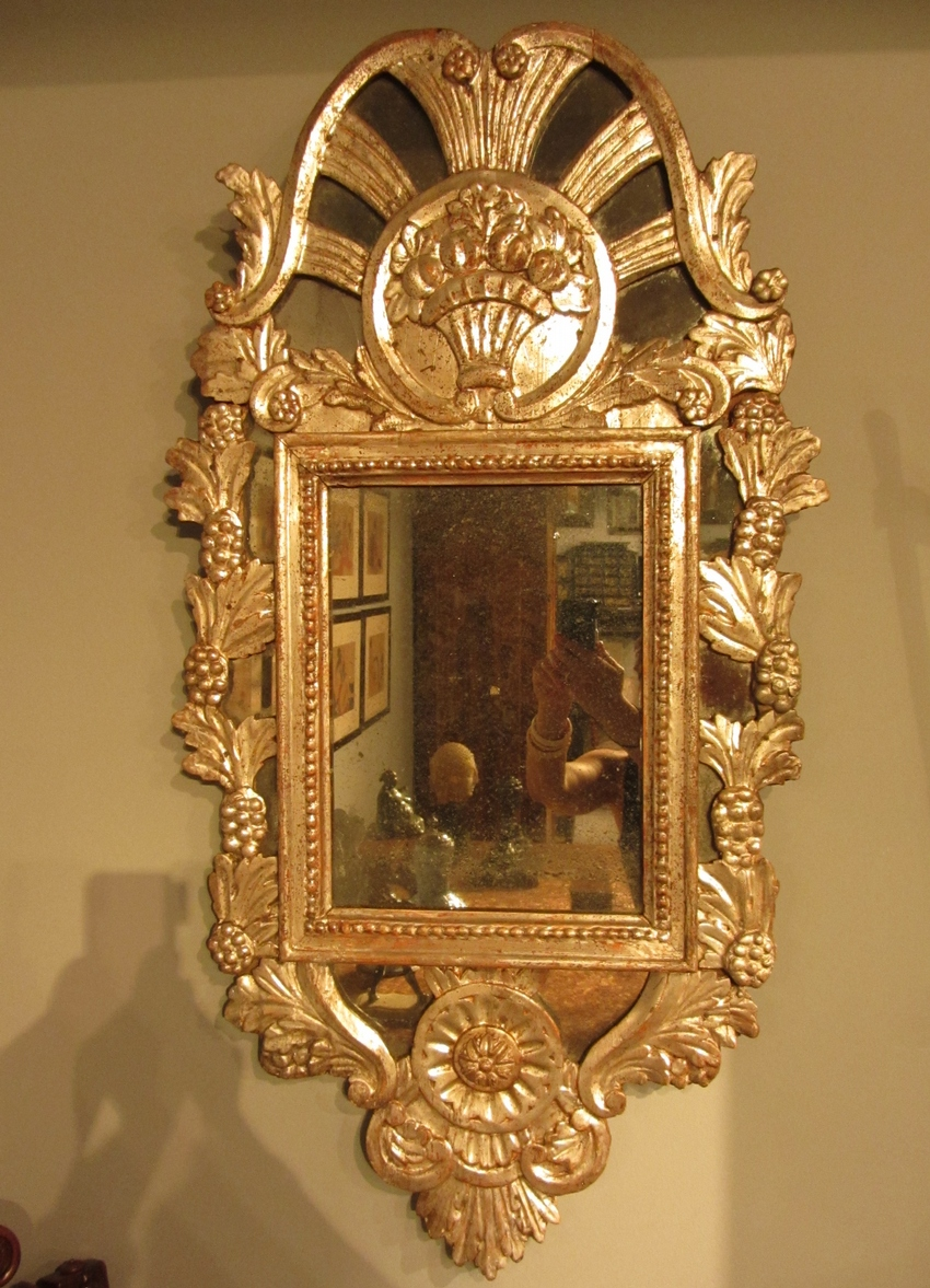 Spanish Silvered Baroque Mirror