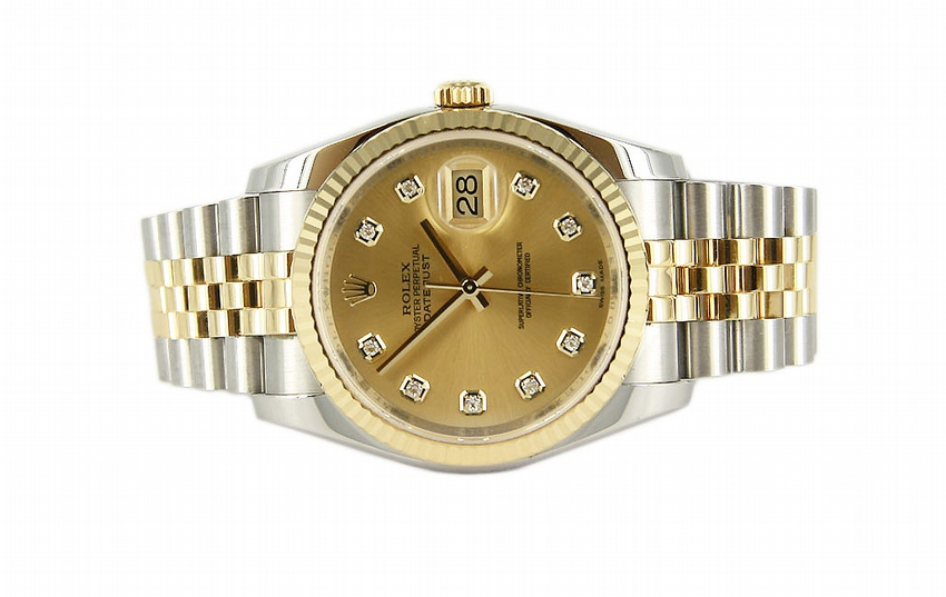 18kt Yellow Gold & Stainless Steel Datejust Rolex Watch