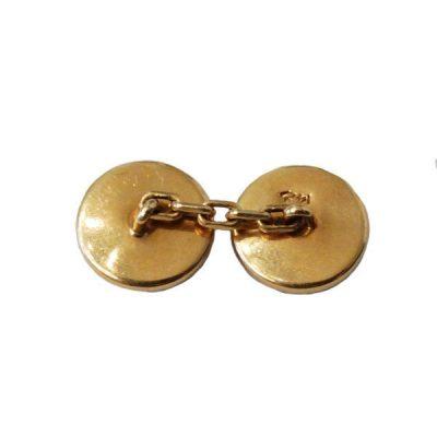 14K Gold Antique Two Sided Hematite Cufflinks