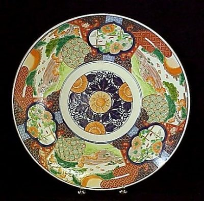 Japanese Imari Porcelain Charger Meiji C 1880