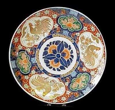 Japanese Imari Porcelain Charger Floral Meiji C. 1880