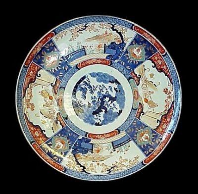 Japanese Imari Porcelain Charger Circa 1880 Meiji