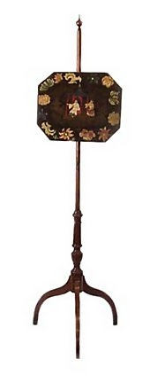 American Federal Pole Screen Japanned Decoration C 1800