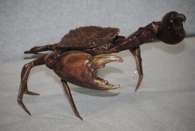 Antique bronze lifesize crab Italian made 1920