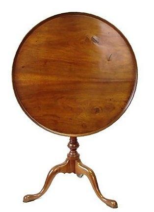18th Century American Bird Cage Tilt Top Tea Table 1770