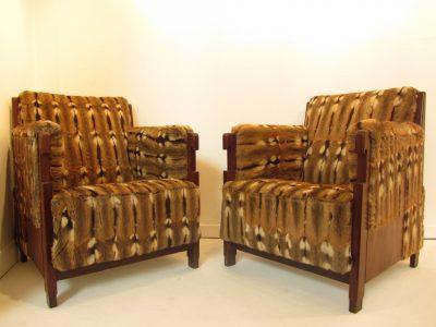 Set of Mid-century Design Art Deco Armchairs
