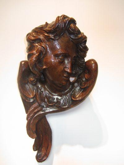Antique Flemish Angel Sculpture 17th century