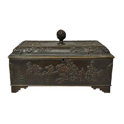 French Bronze Chinoiserie Style Bronze Box C 1880