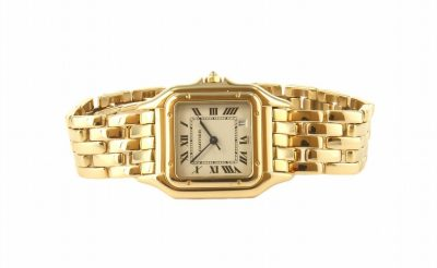 18kt Yellow Gold Cartier Panthere Watch