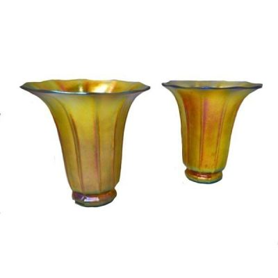 Pair Of Steuben American Art Glass Vases
