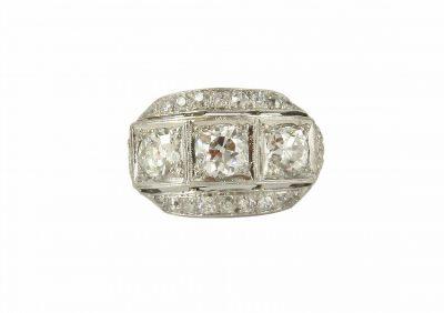 Platinum Diamond Deco Ring