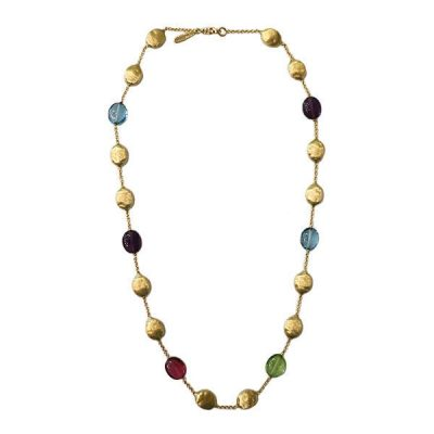 Marco Bicego 18K Gold Gem Stone and Gold Bead Necklace