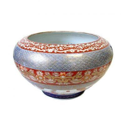 Japanese Meiji Fukugawa Porcelain Jardiniere 1880