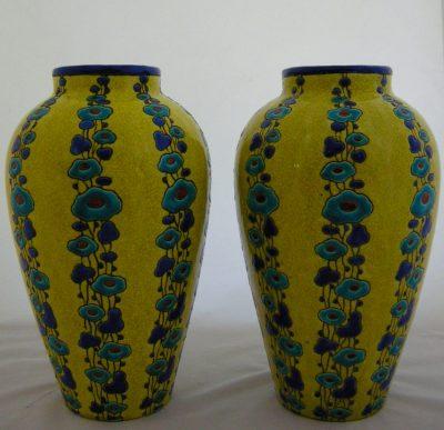 Pair of Boch Freres Keramis Vases