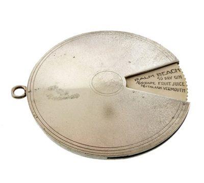 Art Deco Napier Silverplate Cocktail Recipe Disk