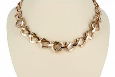 18kt Rose Gold Chopard Happy Diamonds Necklace