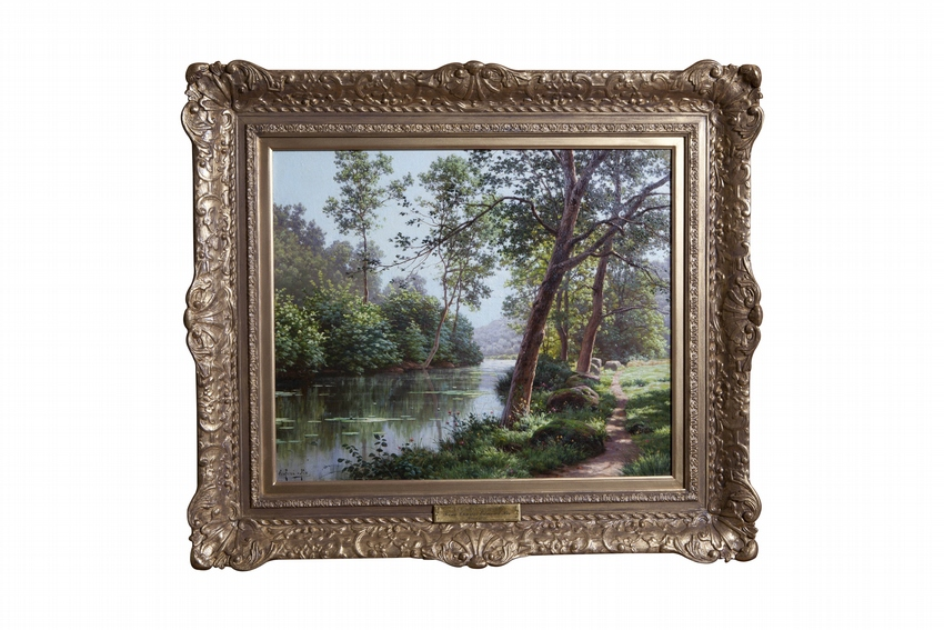 The River in Summer by Charles Edmond Rene His