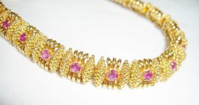 Tiffany Bracelet Pink Sapphires 18K