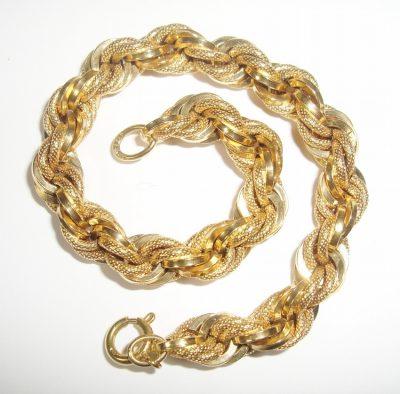 Twist Bracelet Men's or Women's 18K