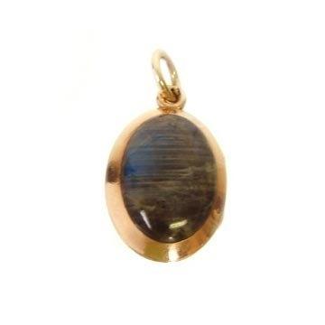 14K Gold Victorian Labradorite and Carnelian Locket