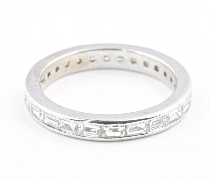 Diamond Gold Eternity Engagement Band