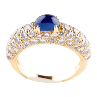 Cartier Sapphire Diamond Ring