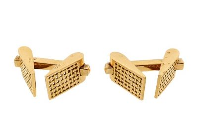 French 18K Gold Snaffle Cufflinks