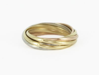 18kt Gold Cartier Rolling Ring
