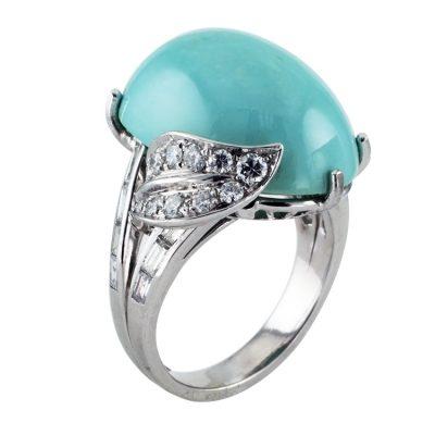Turquoise & Diamond Cocktail Ring